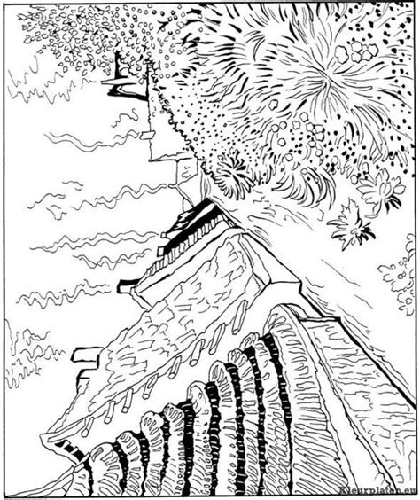 Free Sunflowers Vangogh Coloring Pages Vincent Gogh Coloring Pages