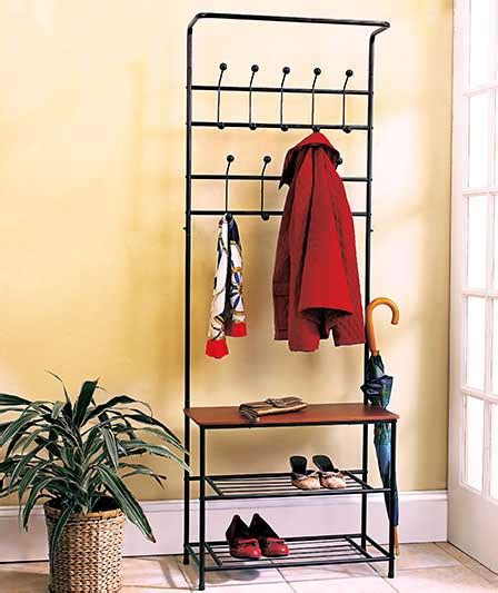 entryway bench with coat rack and storage black metal entryway bench with coat rack and shoe rack