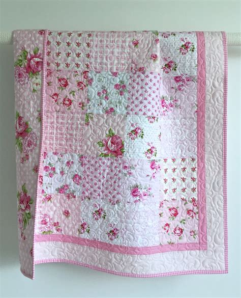 quilt pattern for baby girl adorable baby girl quilt with tiny pink roses