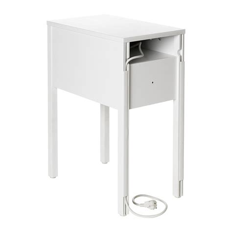 Narrow Side Table Ikea Nordli Bedside Table White 30x50 Cm Ikea