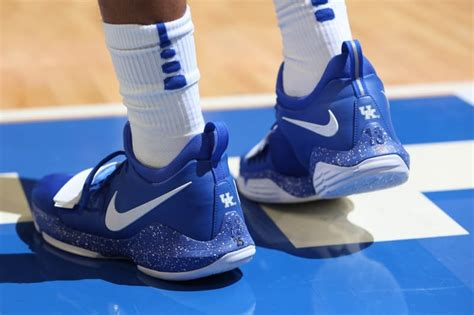 kentucky shoes basketball nike pg 1 kentucky wildcats pe sneaker bar detroit