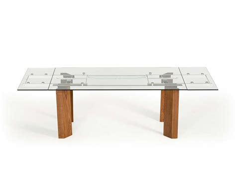 Extendable Glass Top Dining Table Vg 048 Modern Dining Glass Top Extension Dining Tables