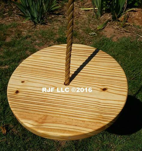 wooden disc swing disc wood tree swings