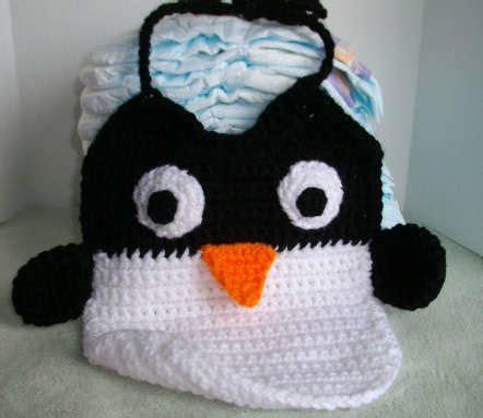 Bib Karakter how to crochet penguin bib make