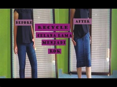 Sew Celana Panjang Bioblitz recycle celana panjang menjadi rok diy