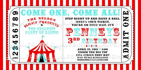 printable carnival tickets templates circus tent ticket printable invitation dimple prints shop