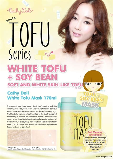 Tofu White Cathy Doll Original best deal 100 original karmart cathy doll white tofu mask
