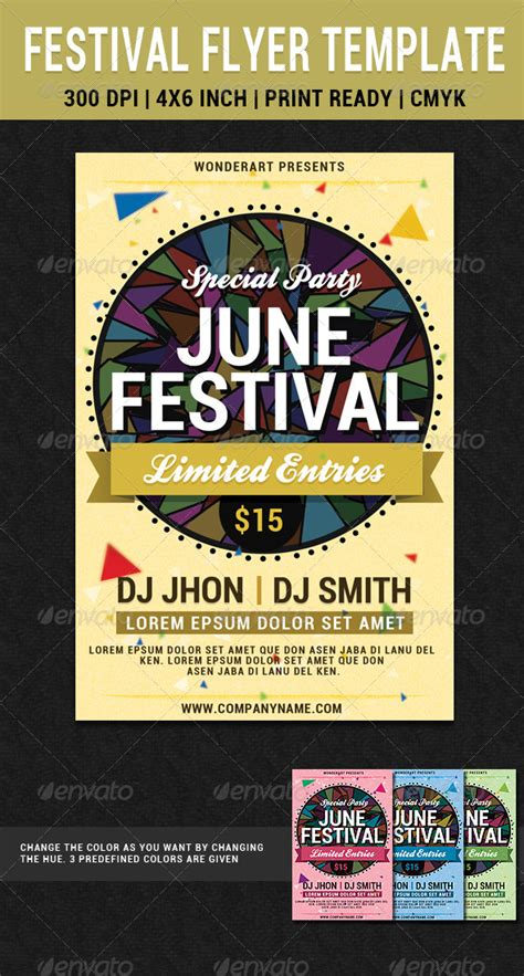 june festival party flyer poster template graphicriver