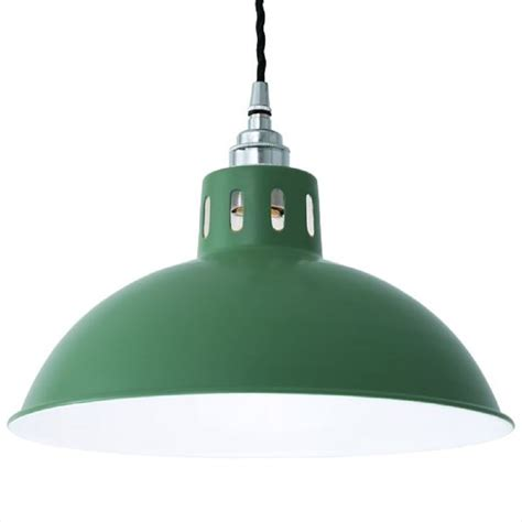 factory pendant light factory style green painted aluminium ceiling pendant