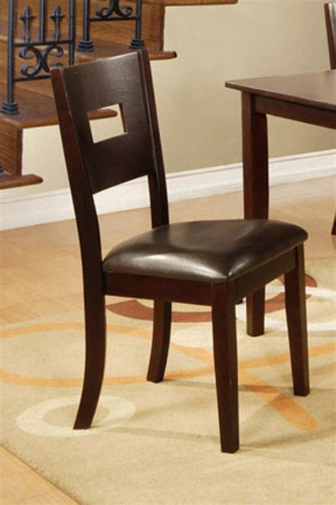 Dining Chairs Los Angeles Poundex F1115 Brown Leather Dining Chair A Sofa Furniture Outlet Los Angeles Ca