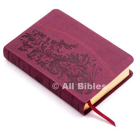 ESV Large Print Compact Bible Ruby Bloom Design TruTone