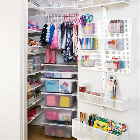 Elfa Closet Planner by White Elfa Reach In Closet The Container Store