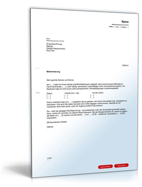 Vorlage Anschreiben Mietminderung Mietminderung Wegen L 228 Rmbel 228 Stigung