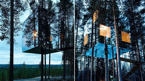 tree house hotels the mirrorcube tree house hotel sweden be you spirit