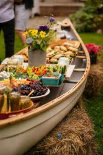 Buffet Table Ideas Entertaining How To Set Up An Outdoor Buffet In A Canoe Simple Bites
