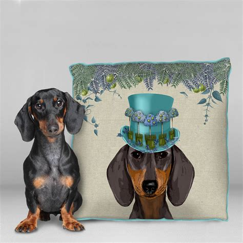 dachshund cushion the milliners dogs by fabfunky home