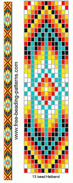 loom beading patterns free patterns animals cross stitch native american beadwork group2 hatband