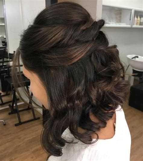 half updo for an angled bob 50 hottest prom hairstyles for short hair