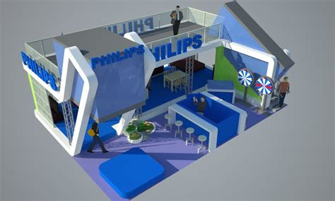 booth design indonesia philips booth design concept indobuildtech 2010 view