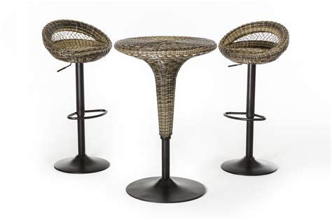 Rattan Bar Table Modrest T 3207 And T 7701 Modern Woven Rattan Bar Table Set