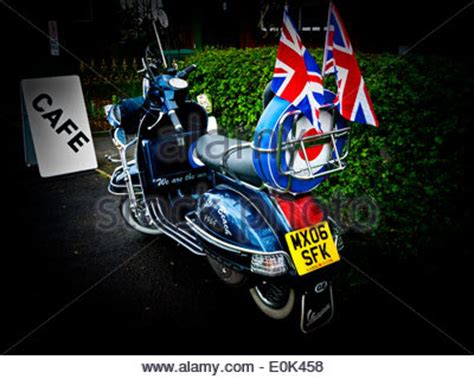 Patch Vespa Lambretta Logo Mods Union Flag Britian mods vespa scooter and union products in a shop window display stock photo 96922248 alamy