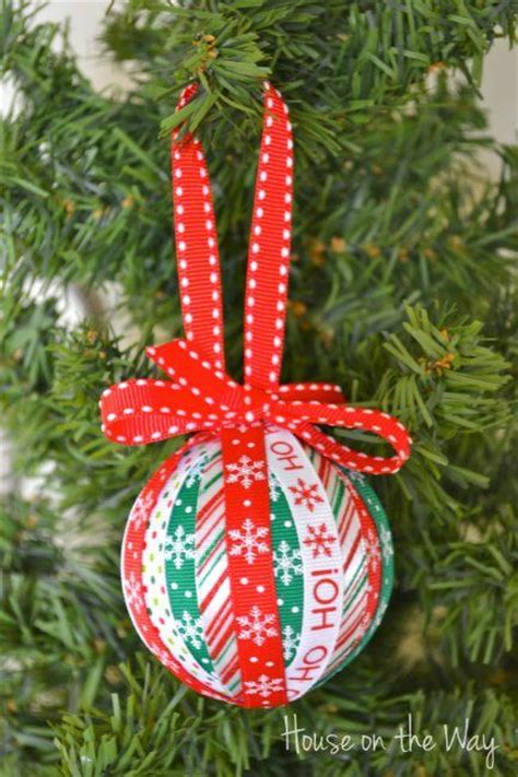 christmas ribbon ornament craft