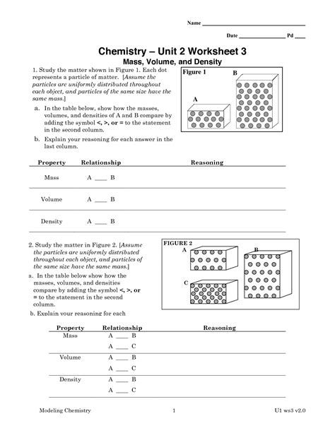 Worksheet Classification Of Matter Answers by 9 Best Images Of Chemistry Worksheet Matter 1 Answer Key