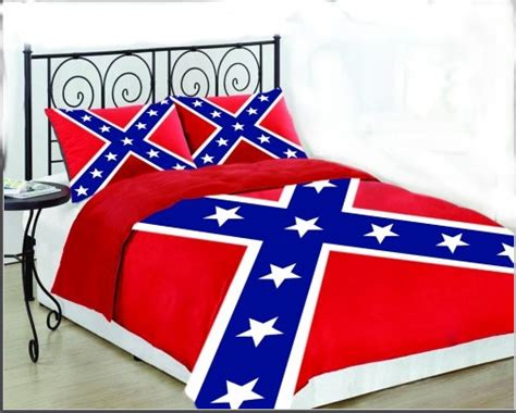 confederate flag bed set confederate battle flag king size set comforter sham