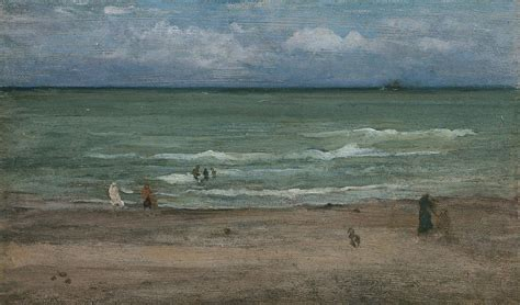 Wood Panel Painting by The Sea Painting By James Abbott Mcneill Whistler