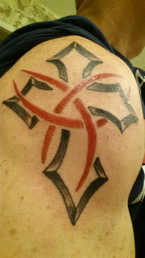 trinity cross tattoo cross with rings cross tattoos