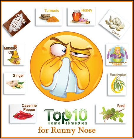 home remedies for a runny nose top 10 home remedies
