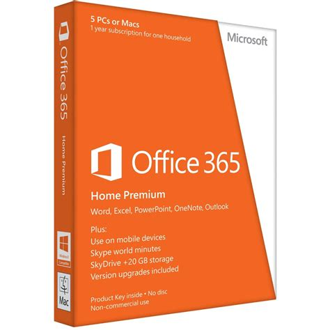 microsoft office 365 home premium licence card 5 users