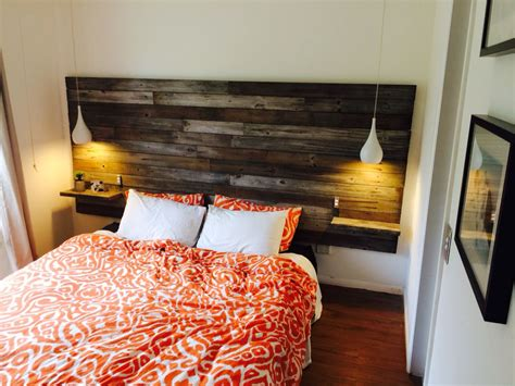 home made headboards diy homemade timber headboard w floating bedsides