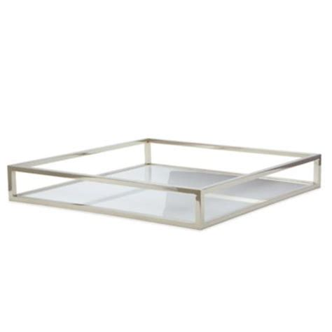 tablett glas buy decorative glass tray from bed bath beyond