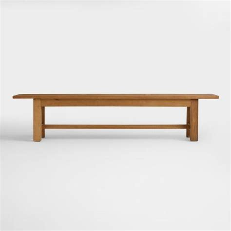outdoor dining bench wood praiano outdoor dining bench world market