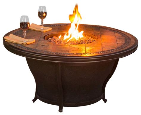 Agio Tempe Gas Fire Pit Traditional Fire Pits By Agio Firepit