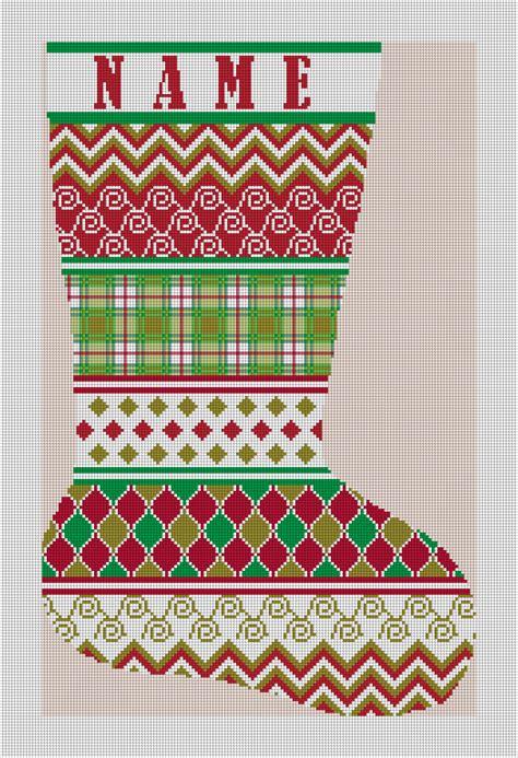 stocking designs christmas treats three new personalized needlepoint
