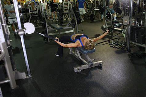 flat bench cable flyes exercise guide and video