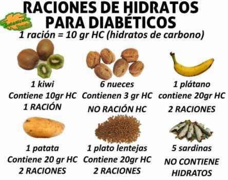 raciones de alimentos  contenido en hidratos de carbono  controlar la diabetes en