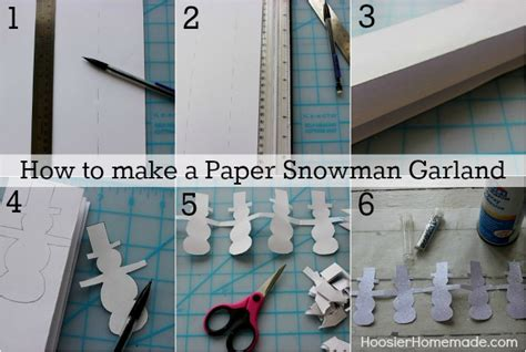 How To Make A Snowman Paper Chain - easy winter crafts hoosier