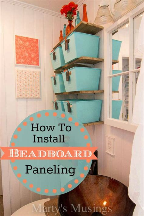 How To Install Beadboard Paneling In A Bathroom by How To Install Beadboard Paneling