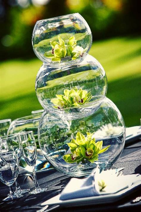 fish bowl centerpieces stacked fish bowl centerpieces wedding day pins you re