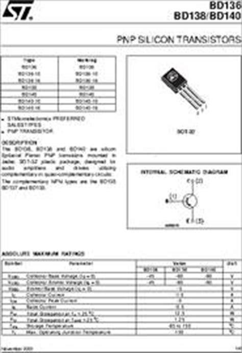 bd140 16 datasheet pnp silicon transistors