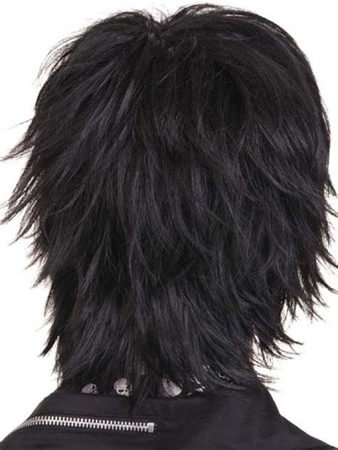 spiked human hair wigs for black woman kw143 black spike short gothic men wigs for human hair ebay