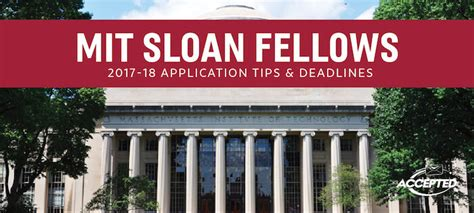 Gmat Score For Mit Sloan Mba by Mit Sloan Fellows Essay Tips Deadlines The Gmat Club