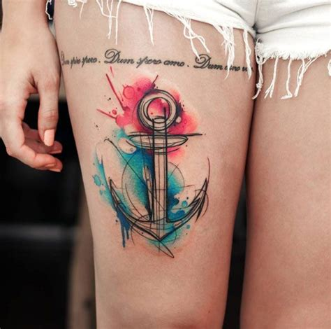 anchor thigh tattoo 25 best ideas about watercolor anchor on