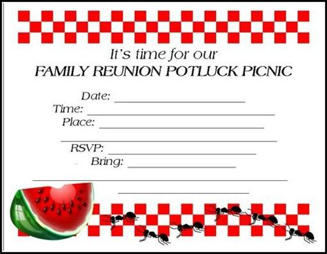 Family Reunion Invitations Tips Sles Templates Printables Wording This Site Has A Lot Of Family Reunion Templates
