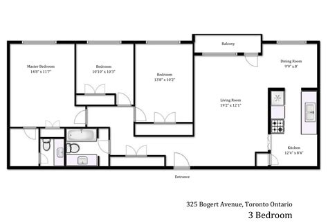 Floor Plan 3 Bedroom | gallery heath residence 325 bogert ave