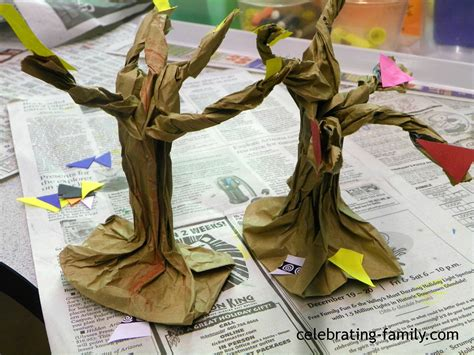 How To Make A Family Tree On Paper For - fall or craft paper bag trees