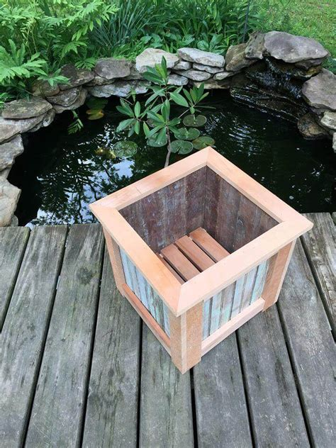 Planter Boxes Made From Pallets by Square Pallet Planter Box